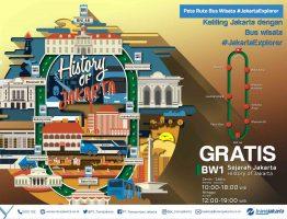 Bus wisata Transjakarta bus Jakarta Explorer 1 Sejarah Jakarta (History of Jakarta)